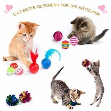 AILUKI 31 Stück Katzenspielzeug Set mit Katzentunnel Jingle Bell Katzen Spielzeug Variety Pack für Kitty - 6