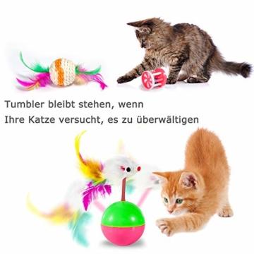 AILUKI 31 Stück Katzenspielzeug Set mit Katzentunnel Jingle Bell Katzen Spielzeug Variety Pack für Kitty - 8