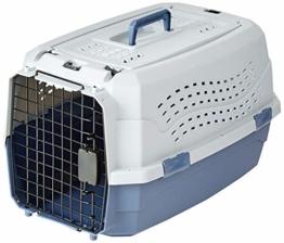AmazonBasics Transportbox für Haustiere, 2 Türen, 1 Dachöffnung, 58cm - 1