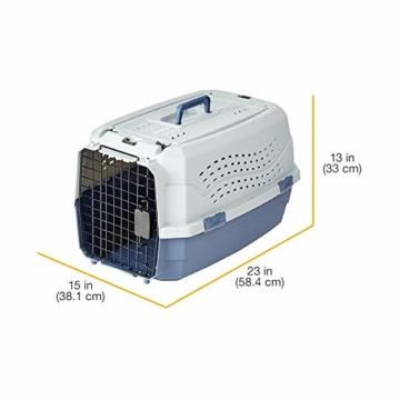 AmazonBasics Transportbox für Haustiere, 2 Türen, 1 Dachöffnung, 58cm - 4