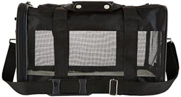 AmazonBasics Transporttasche für Haustiere, weiche Seitenteile, Schwarz, Größe M - 12