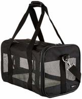 AmazonBasics Transporttasche für Haustiere, weiche Seitenteile, Schwarz, Größe M - 1