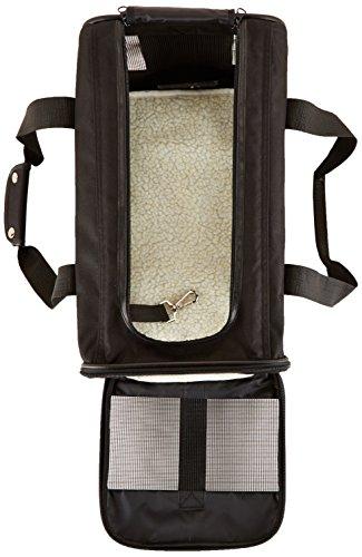 AmazonBasics Transporttasche für Haustiere, weiche Seitenteile, Schwarz, Größe M - 3