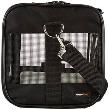 AmazonBasics Transporttasche für Haustiere, weiche Seitenteile, Schwarz, Größe M - 4