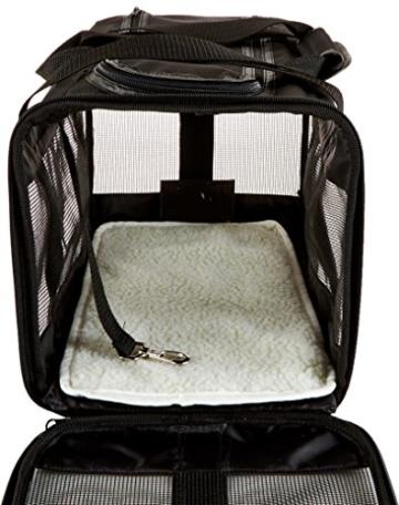 AmazonBasics Transporttasche für Haustiere, weiche Seitenteile, Schwarz, Größe M - 5