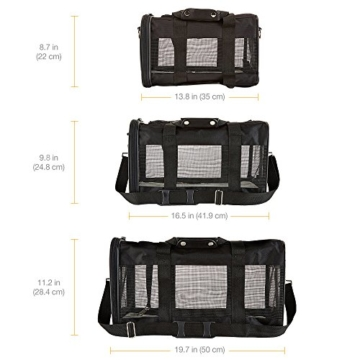 AmazonBasics Transporttasche für Haustiere, weiche Seitenteile, Schwarz, Größe M - 6