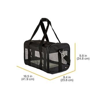 AmazonBasics Transporttasche für Haustiere, weiche Seitenteile, Schwarz, Größe M - 10