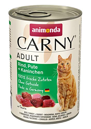 animonda Carny Adult Katzenfutter, Nassfutter für ausgewachsene Katzen, Mix 2, 12 x 400 g - 3