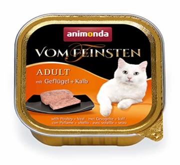 animonda Vom Feinsten Adult Katzenfutter, Nassfutter für ausgewachsene Katzen, kastrierte Katze Geflügel-Kreation Mix, 32 x 100 g - 2