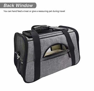Arkmiido Faltbare Hundetragetasche Katzentragetasche, Haustiertragetasche,Hundetransportbox, Faltbare Katzenbox aus Oxford-Gewebe - 2