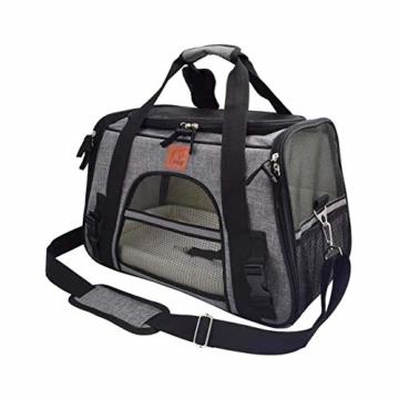 Arkmiido Faltbare Hundetragetasche Katzentragetasche, Haustiertragetasche,Hundetransportbox, Faltbare Katzenbox aus Oxford-Gewebe - 3