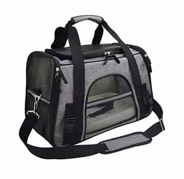 Arkmiido Faltbare Hundetragetasche Katzentragetasche, Haustiertragetasche,Hundetransportbox, Faltbare Katzenbox aus Oxford-Gewebe - 1