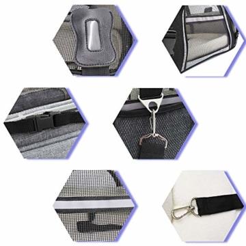 Arkmiido Faltbare Hundetragetasche Katzentragetasche, Haustiertragetasche,Hundetransportbox, Faltbare Katzenbox aus Oxford-Gewebe - 5