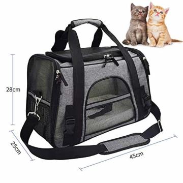 Arkmiido Faltbare Hundetragetasche Katzentragetasche, Haustiertragetasche,Hundetransportbox, Faltbare Katzenbox aus Oxford-Gewebe - 6