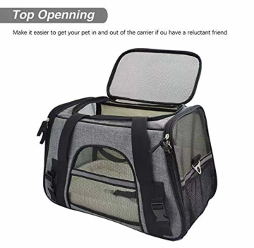 Arkmiido Faltbare Hundetragetasche Katzentragetasche, Haustiertragetasche,Hundetransportbox, Faltbare Katzenbox aus Oxford-Gewebe - 8