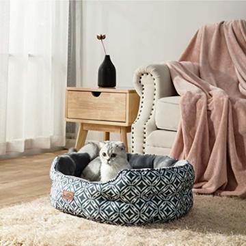 Bedsure Katzenbett Katzen Bettchen Gross - Katzen Bett mit Zweiseitig Innenkissen Waschbar Katzenschlafplatz Grau L64cm X B53cm X H23cm für Katzen/Kleine Hunde - 2
