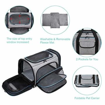 BERTASCHE Tragetasche für Katze Hund Transporttasche Reisetasche für Auto Flug - 3
