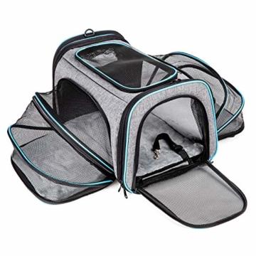 BERTASCHE Tragetasche für Katze Hund Transporttasche Reisetasche für Auto Flug - 1