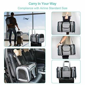 BERTASCHE Tragetasche für Katze Hund Transporttasche Reisetasche für Auto Flug - 6