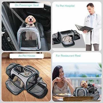 BERTASCHE Tragetasche für Katze Hund Transporttasche Reisetasche für Auto Flug - 7