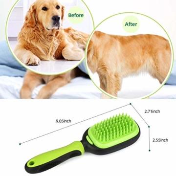 Bestcool Unterwollbürste Hunde Katze, 5 in 1 Hundesalonbürste Kit Flexibler Borsten & Pin Hundebürste & Katzenbürste | Entfilzen & Glätten | Hundekamm für Langhaarige Haustiere - 7
