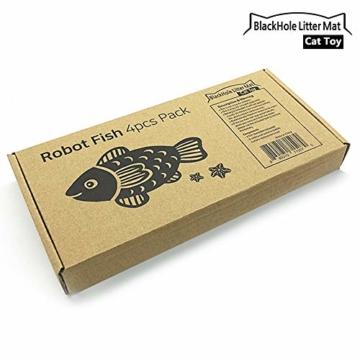 BlackHole Litter Mat ® - interaktives Spielzeug mit LED-Licht (4 Stück), elektronisches Katzenspielzeug, um die Jägerinstinkte Ihrer Katze zu stimulieren - 3