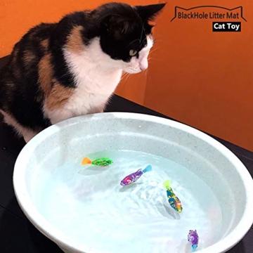 BlackHole Litter Mat ® - interaktives Spielzeug mit LED-Licht (4 Stück), elektronisches Katzenspielzeug, um die Jägerinstinkte Ihrer Katze zu stimulieren - 4