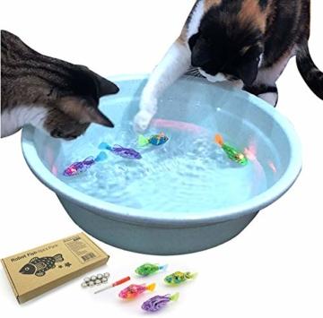 BlackHole Litter Mat ® - interaktives Spielzeug mit LED-Licht (4 Stück), elektronisches Katzenspielzeug, um die Jägerinstinkte Ihrer Katze zu stimulieren - 1