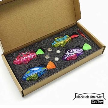 BlackHole Litter Mat ® - interaktives Spielzeug mit LED-Licht (4 Stück), elektronisches Katzenspielzeug, um die Jägerinstinkte Ihrer Katze zu stimulieren - 5