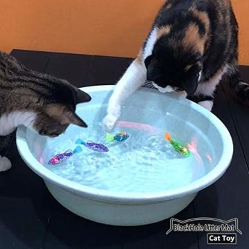 BlackHole Litter Mat ® - interaktives Spielzeug mit LED-Licht (4 Stück), elektronisches Katzenspielzeug, um die Jägerinstinkte Ihrer Katze zu stimulieren - 7