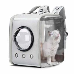CKAN Pet Carrier Rucksack, Space Capsule Transparent Tragbarer Katzenrucksack Atmungsaktive Reise-Transporttasche für kleine, mittelgroße Hunde und Katzen - 1