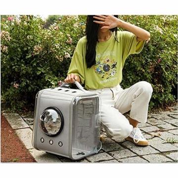 CKAN Pet Carrier Rucksack, Space Capsule Transparent Tragbarer Katzenrucksack Atmungsaktive Reise-Transporttasche für kleine, mittelgroße Hunde und Katzen - 4