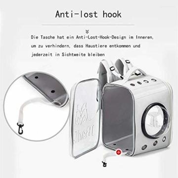 CKAN Pet Carrier Rucksack, Space Capsule Transparent Tragbarer Katzenrucksack Atmungsaktive Reise-Transporttasche für kleine, mittelgroße Hunde und Katzen - 6