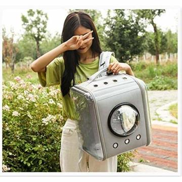 CKAN Pet Carrier Rucksack, Space Capsule Transparent Tragbarer Katzenrucksack Atmungsaktive Reise-Transporttasche für kleine, mittelgroße Hunde und Katzen - 7