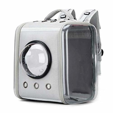CKAN Pet Carrier Rucksack, Space Capsule Transparent Tragbarer Katzenrucksack Atmungsaktive Reise-Transporttasche für kleine, mittelgroße Hunde und Katzen - 8