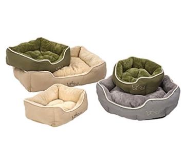 Dehner Hunde- und Katzenbett Sammy, oval, ca. 45 x 40 x 14 cm, Polyester, grau - 2