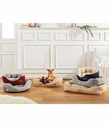 Dehner Hunde- und Katzenbett Sammy, oval, ca. 45 x 40 x 14 cm, Polyester, grau - 3