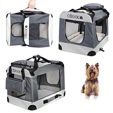 Deuba CADOCA Hundetransportbox faltbar Katzentransportbox Tier Transport Tierbox Größe M grau - 4