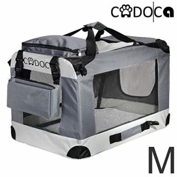 Deuba CADOCA Hundetransportbox faltbar Katzentransportbox Tier Transport Tierbox Größe M grau - 1