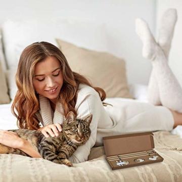 ecoworks Premium Katzenspielzeug |natürliche robuste Spielangel mit Maus | Stofftier 3er Set zur Katzenbeschäftigung | Kratzspielzeug | Geschenkbox | interaktives Zubehör | natürlichen Fasern & Federn - 6