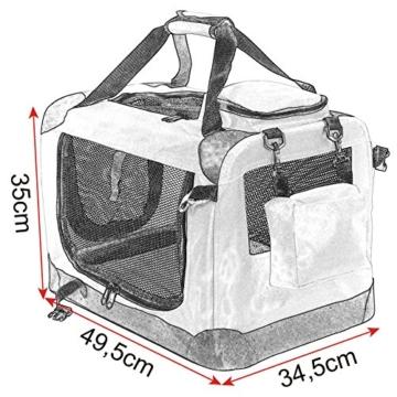 EUGAD Hundebox faltbar Hundetransportbox Auto Transportbox Reisebox Katzenbox 0106HT - 5