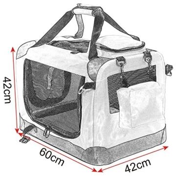 EUGAD Hundebox faltbar Hundetransportbox Auto Transportbox Reisebox Katzenbox 0112HT - 2