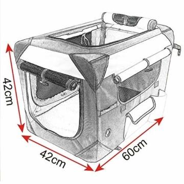 EUGAD Hundebox Faltbar Hundetransportbox Auto Transportbox Reisebox Katzenbox Box mit Hundedecke Oxford Grau 0141HT - 2