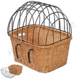 Fahrradkorb für Kleintiere / Katzen / Hunde Korbgeflecht Transportkorb Weidenkorb - 1
