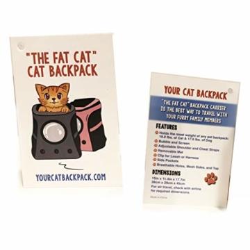 Fat Cat Katze Rucksack Carrier Rucksack–Cat für Katzen von - 7