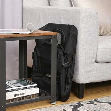 FEANDREA Hundebox Transportbox Auto Hundetransportbox faltbar Katzenbox Oxford Gewebe schwarz M 60 x 40 x 40 cm PDC60H - 7