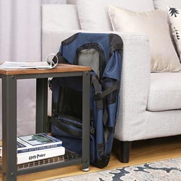 FEANDREA Hundebox, Transportbox für Auto, Hundetransportbox, Faltbare Katzenbox aus Oxford-Gewebe, S, 50 x 35 x 35 cm, dunkelblau PDC50Z - 7