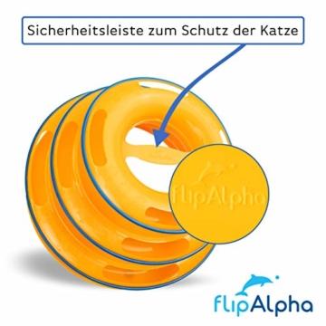 flipAlpha Katzenspielzeug - Dreifache Kugelbahn zur Beschäftigung für die Katze - interaktives Katzenspielzeug - 4
