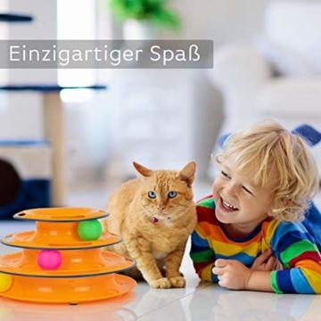 flipAlpha Katzenspielzeug - Dreifache Kugelbahn zur Beschäftigung für die Katze - interaktives Katzenspielzeug - 5