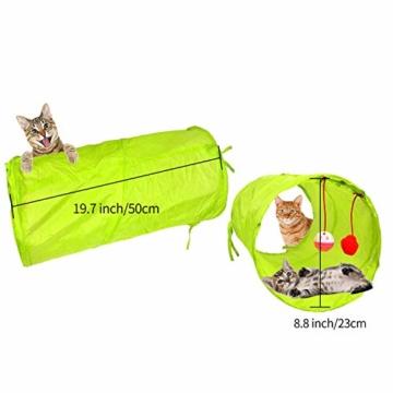 FYNIGO 30 Stück Katzenspielzeug Set mit Katzentunnel,Bälle,Federspielzeug,Plüschspielzeug,Spielzeugmäuse,Katzen Spielzeug Variety Pack für Kitty - 2